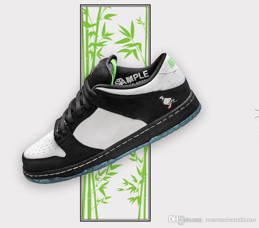 2019 Top Authentic SB Dunk Low Staple Panda Pigeon Basketball Shoes Black  Green Gusto White Men Women Sneakers BV1310 013 With Original Box UK 2019  From ... 9b87ad423a