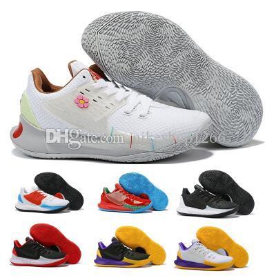 Zapatillas de baloncesto Kyrie Low 2 Sponge bob Mr Krabs Sandy Cheeks Triple Yellow Hombres Hombre Zoom EP 2019 Nuevo Skateboard Designer Trainers