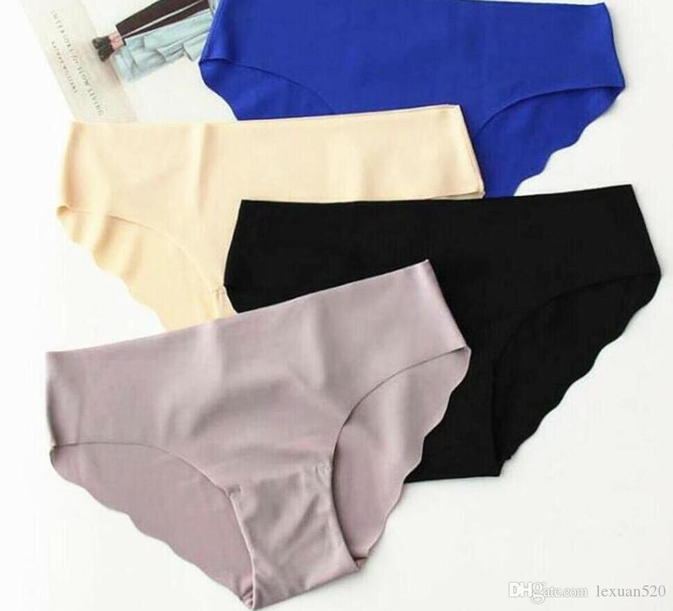 e90004098733 2018 Hot Sale Seamless Briefs Everyday Underwear Women Panties Traceless Raw -cut Sexy lingerie Hipster Pink Briefs intimate