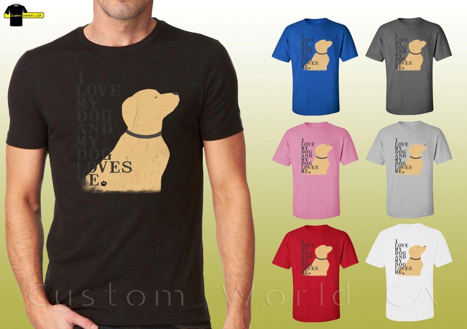 b249fe3e1e68 Dog Design Shirts I Love My Dog Loves Me Graphic Puppy Unisex T Shirt  20085hl Cartoon T Shirt Men Unisex New Buy Shirt Ti Shirt From Cls6688522,  ...
