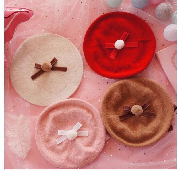 5f7ca7554c314 Lolita Berets Wool Blend Hat Women Girls Bow Knot Cap Berets Cheap Berets  Lolita Berets Wool Blend Hat Women Girls Online with  23.66 Piece on  Ylingnei s ...