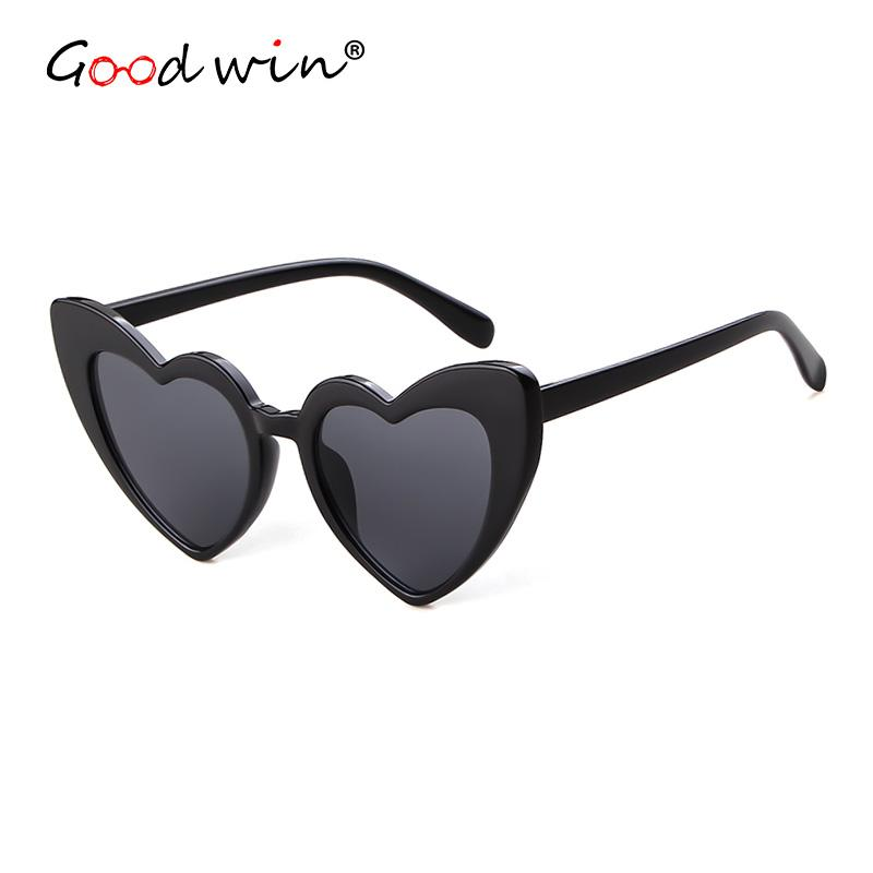 60716d9e35 Good Win Fashion Vintage Heart Sunglasses Women Love Retro Cat Eye  Sunglasses For Women Black White Glasses Zonnebril Vrouwen Polarized  Sunglasses ...