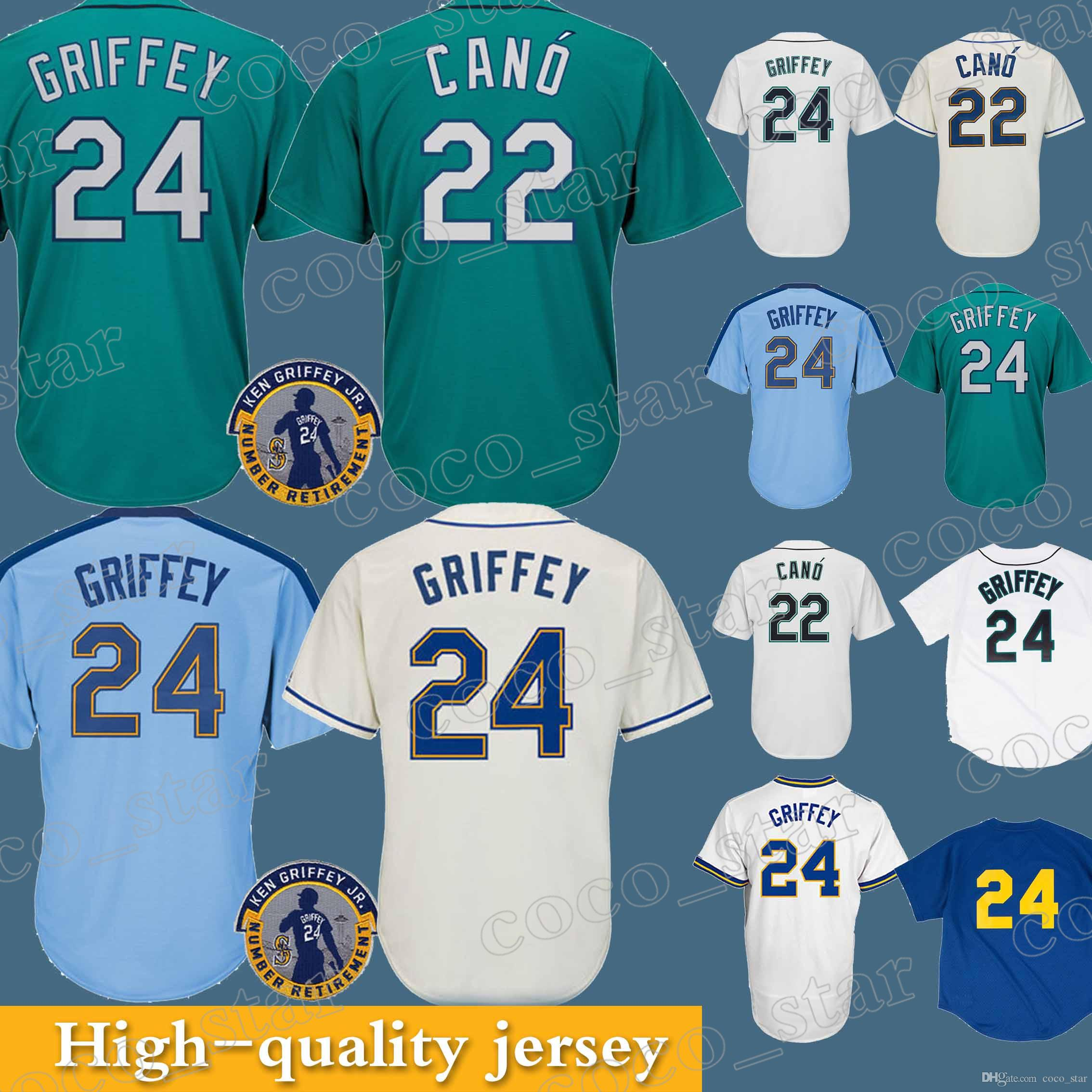 best service 35778 3e294 Seattle Mariners jerseys 22 Robinson Cano Hot Sale 2018 New 100% Stitched  superior quality Top MEN Jerseys
