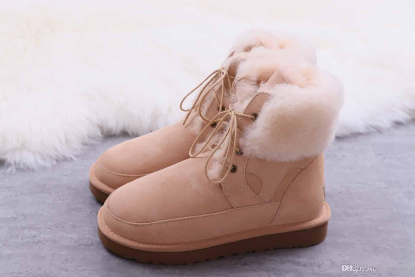 ee40876d Compre Ugg Boots NUEVO ACOGEDOR Piel De Oveja De Calidad Superior Ugg Botas  Para La Nieve Estilo Australia Estilo CLASSIC MINI FLUFF BOTA ACOLCHADA  Botas De ...