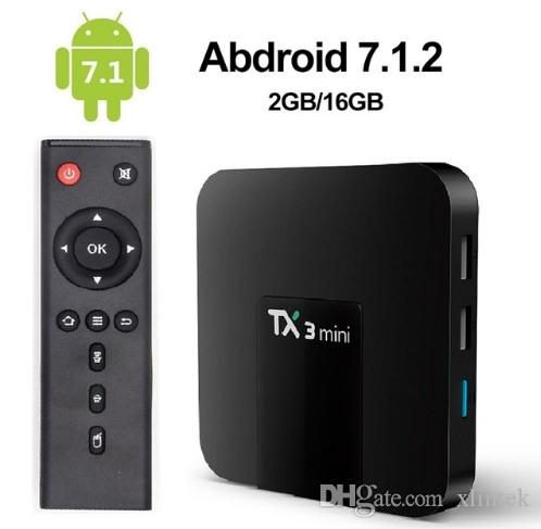 2019 Tx3 Mini Android 7.1 OTT TV Box Amlogic S905W Quad Core 2GB 16GB 4K Смарт Streaming Media Player