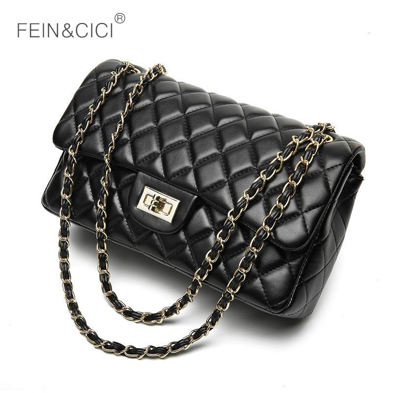 2019 Fashion Chains Double Flap Bag Women Quilted Shoulder Bag Luxury Brand  Classic Fashion Lady Crossbody Handbag New Quality Red Black Ivanka Trump  ... 3e2980a5da