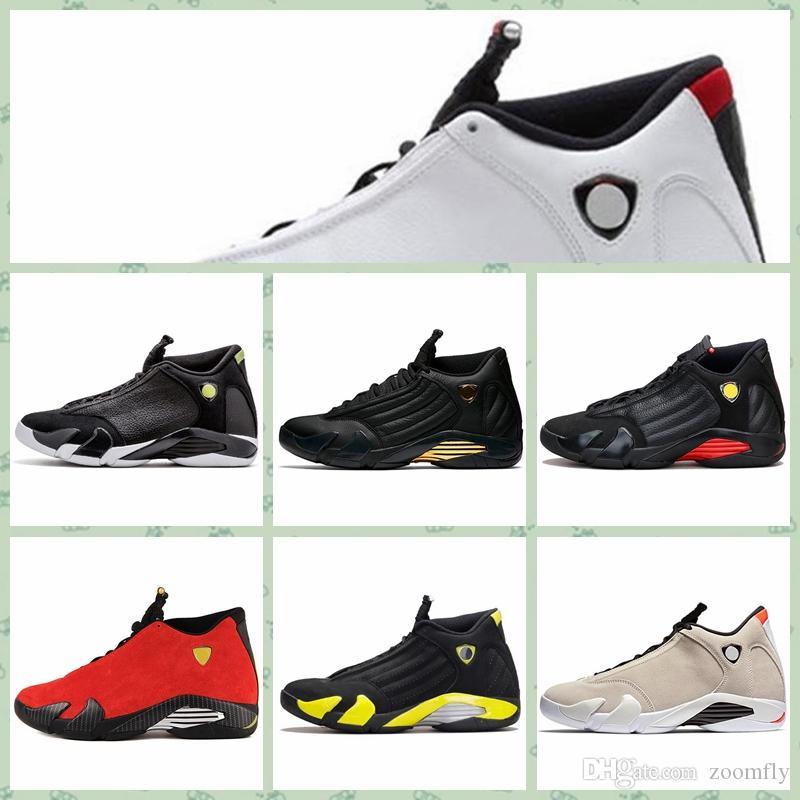 nouvelle arrivee 00286 1eaaf Nike Air jordan 14 Retro AJ AJ14 Cheap Men retro 14s basse scarpe outdoor  in vendita J14 Laney Blu Black Toe Bianco Rosso Bred aj1s4 Jumpman 14  casual ...