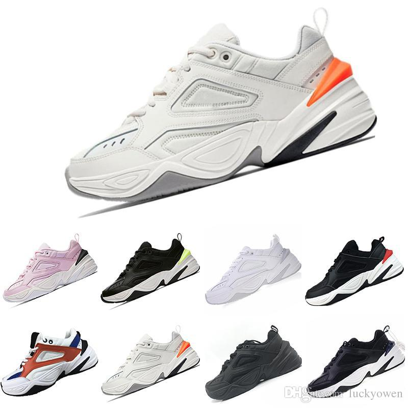 reputable site f63a3 d64c4 Acheter Nike Air Monarch The M2K Tekno 2019 M2K Tekno Vieux Grand Père  Chaussures De Course Pour Hommes Femmes Sneakers Athlétique Formateurs  Professionnel ...