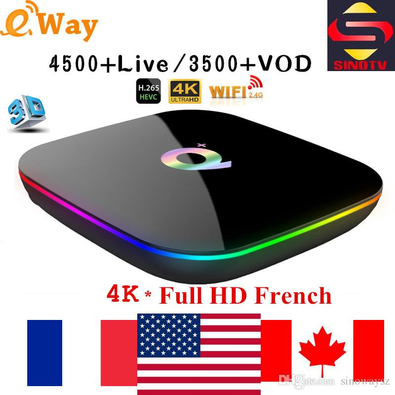 Arabic IPTV Box Q PLUS 4GB/32GB 4GB/64GB free 6K HD french Europe USA  Lation Romania Turkish Indian Portugal world tv channels