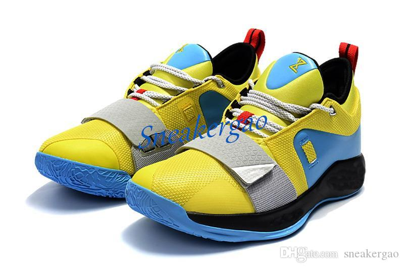 a4f6d85a1932 2019 With Shoes Box PG 2.5 Playstation Wolf Grey Shoes For Sales Top  Quality New Paul George Basketball Shoes Boys Basketball Shoes Cp3 Shoes  From ...