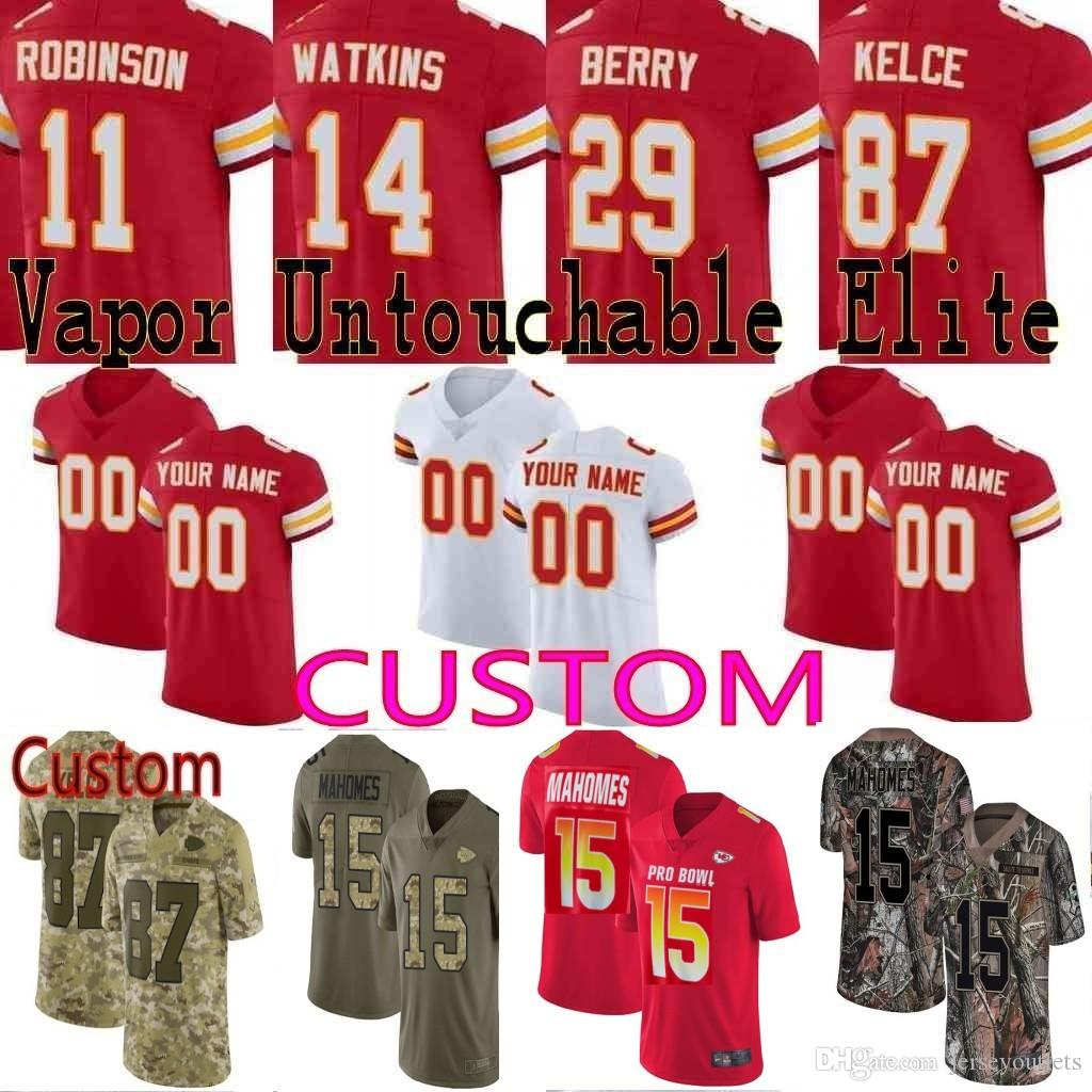 quality design 88fab a79f3 custom Men Youth women Kansas City Patrick Mahomes Tyreek Hill Travis Kelce  Eric Berry Chiefs Camo Salute to Service Elite Limited Jersey