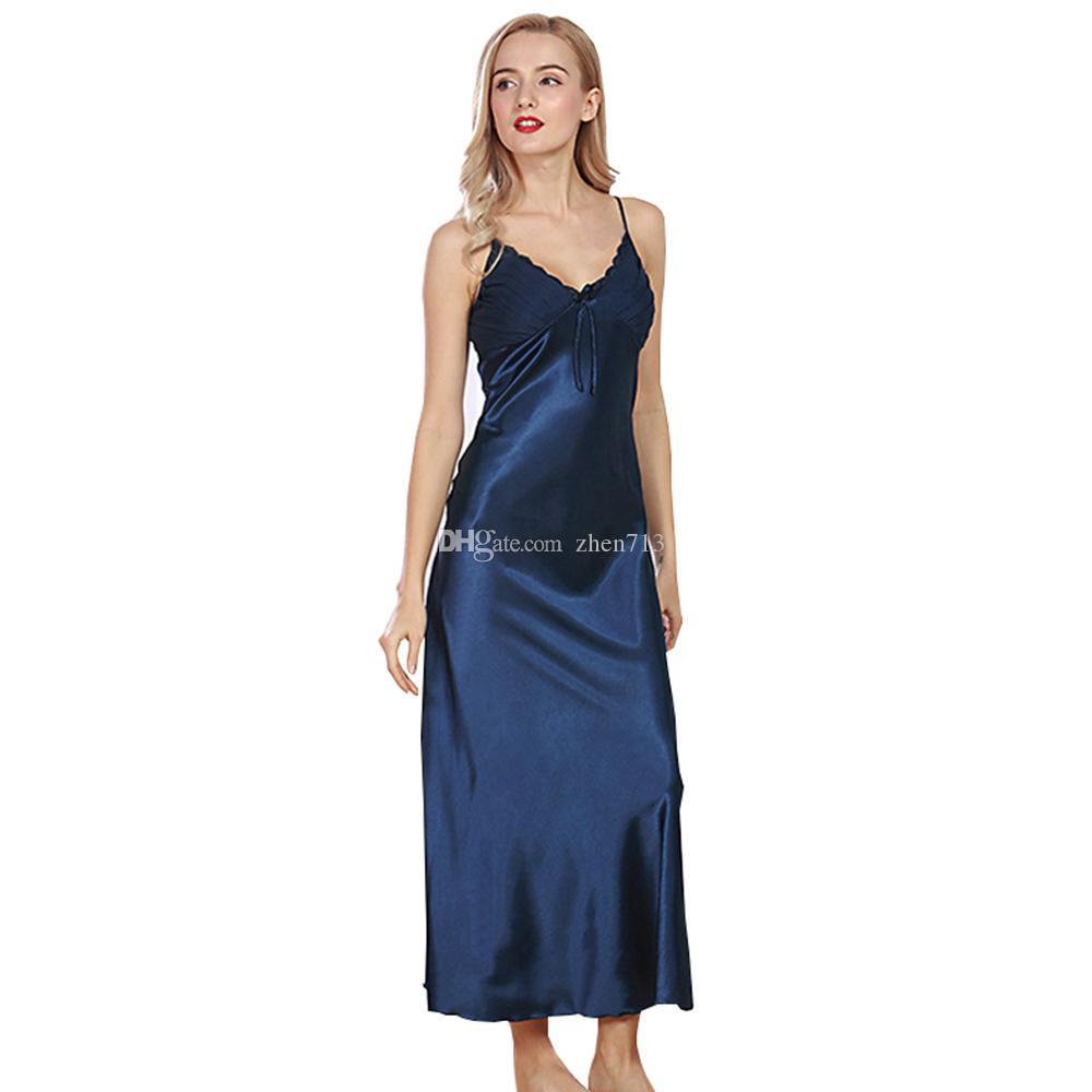 2019 Set Women Lady Silk Satin Pajamas Pyjama Sleepwear Nightwear  Loungewear From Zhen713 b9ef60da2