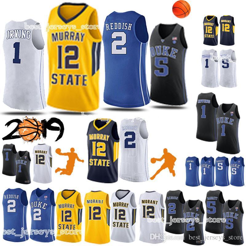 info for b1f11 fd2c8 NCAA Duke College jerseys 1 Zion Williamson 12 Ja Morant 2 Cam Reddish 5 RJ  Barrett basketball jerseys 2019