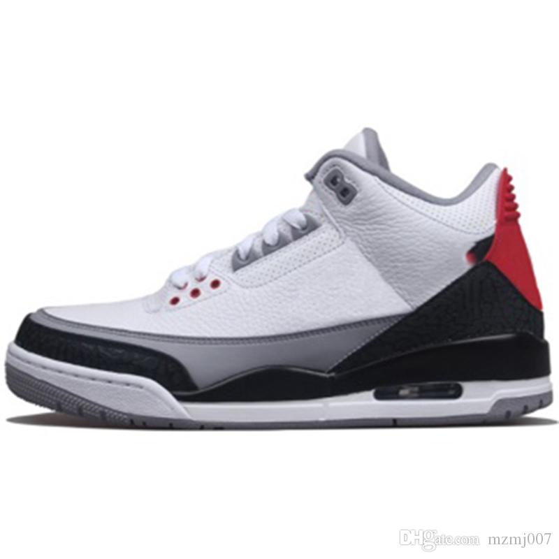 nike air jordan aj3 Chicago All Stars 3 Tinker Hatfield Noir Rouge Ciment Hommes Chaussures De Basketball JTH NRG 3s Varsity Rouge Hommes Baskets Baskets taille