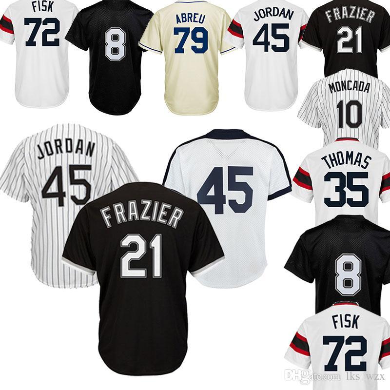 b0d57e9a The New Chicago White Sox Jersey 10 Yoan Moncada 8 Bo Jackson 79 Jose Abreu 35  Frank Thomas 45 74 Jersey Embroidery Logo UK 2019 From Lks_wzx, ...
