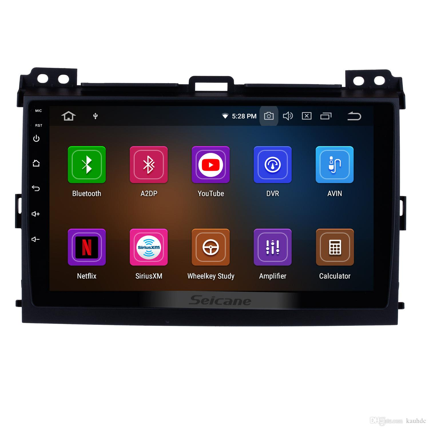 Android 9.0 Touchscreen GPS Navi Car Stereo for 2002-2009 Toyota Prado Cruiser with 3G WiFi Bluetooth Mirror Link support OBD2 car dvd