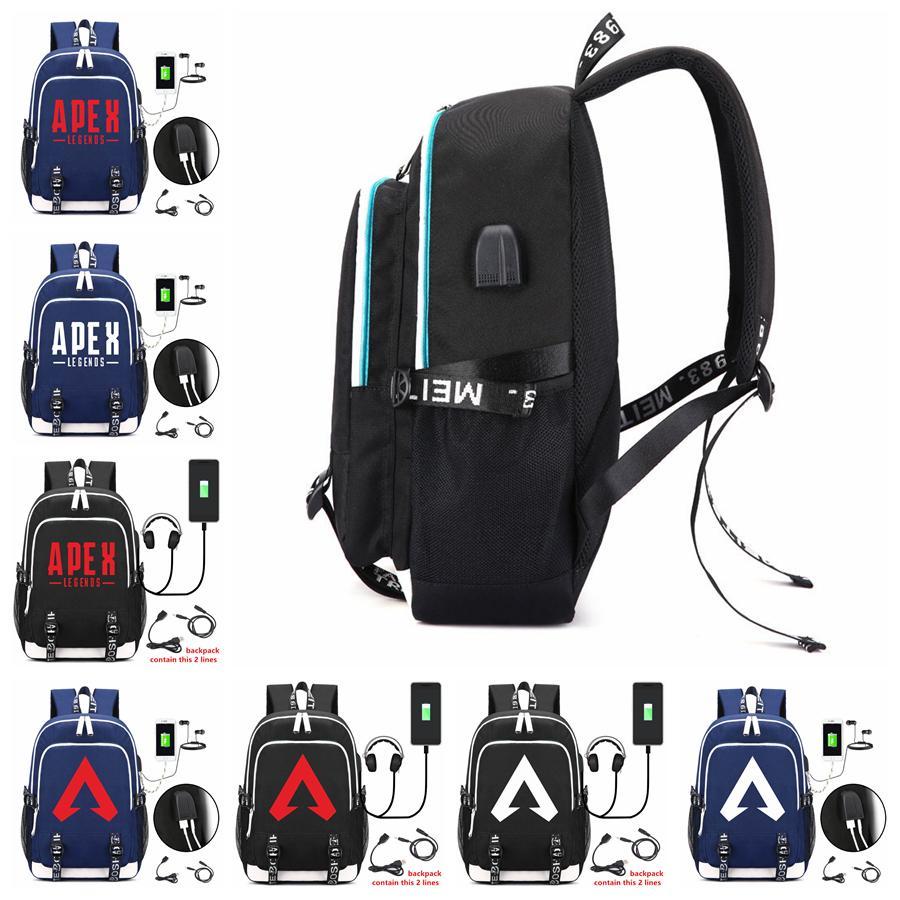 aaf4175933 Apex Legends USB Backpack Charging Port Student Schoolbag Outdoor Travel  Cartoon Game Animal Bags OOAful Backpacks Cheap Kids Backpacks From  Kids dress