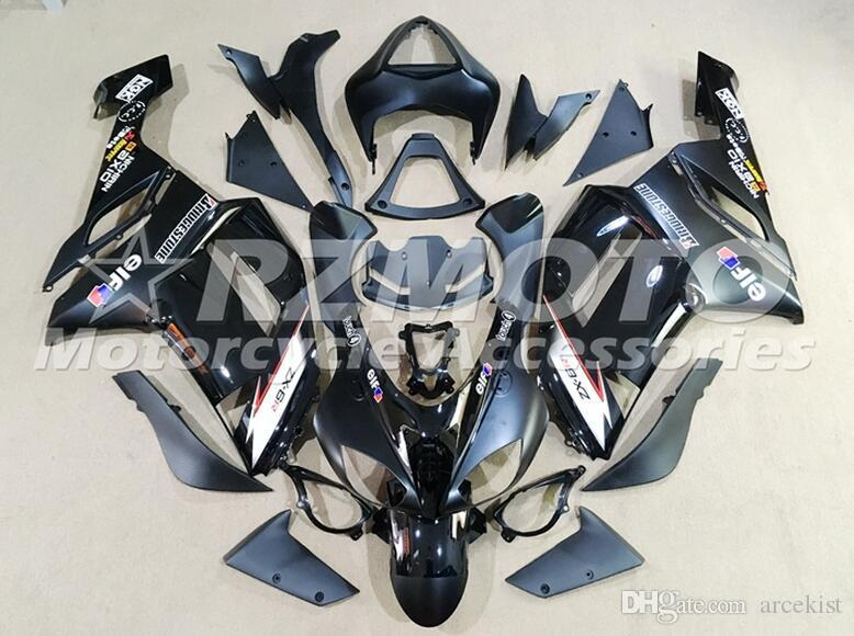 TOP quality New ABS motorcycle Fairings kits fit for kawasaki 07 08 ZX 6R 636 2007 2008 Ninja ZX6R ZX636 fairing set custom hot sales