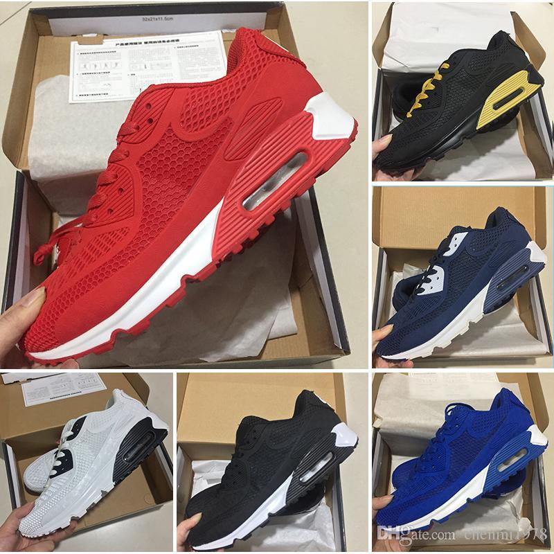 first rate 6f944 a0777 Acquista Nike Air Max 90 95 97 98 270 2018 New Air Cushion 90 KPU Uomo  Donna Scarpe Sportive Sneakers Classiche Di Alta Qualità Economici i Scarpe  Da Corsa ...