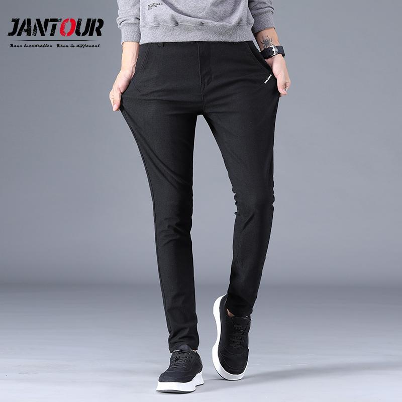 65d6e1dcde14 Acquista Jantour Marca Primavera Estate New Fashion 2019 Uomini Etero Slim  Pantaloni Casual Pantaloni Uomo Cotone Di Alta Qualità Plus Size 28 38 A  $33.57 ...