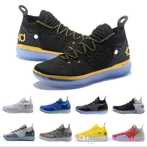 ac8ea9f898ca 2019 New Kevin Durant Kd 11 Basketball Shoes Mens Durant Gold ...
