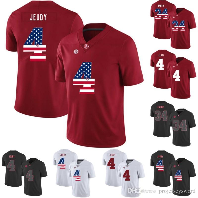 7a902bf4a 2019 Mens Alabama Crimson Tide Jersey 4 Jerry Jeudy 14 Tyrell Shavers 31  Bryce Musso 32 Jalen Jackson 40 Giles Amos College Football Jerseys From ...