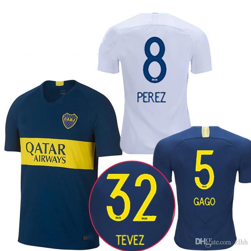 1755cf097d2c9 Camisetas De Camiseta De Fútbol De Tailandia 2018 2019 Boca Juniors GAGO  TEVEZ CARDONA ALIBA Camisetas De Fútbol De Boca Junior PAVON Por Zlhh