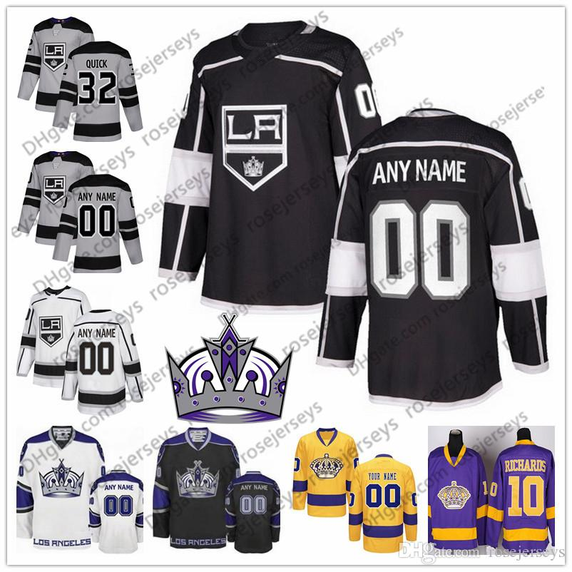 a217ab7a0 Custom Los Angeles Kings 2019 Gray Third Jersey Any Number Name Men ...
