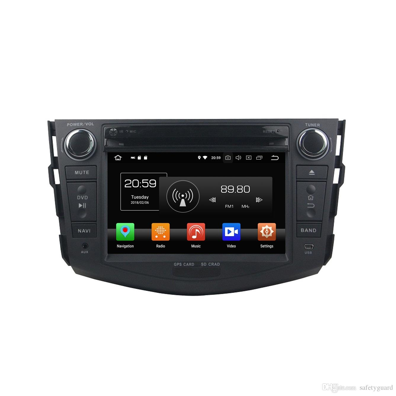 "4GB RAM 64GB ROM Android 8.0 Octa Core 2 din 7"" Car DVD Radio GPS for Toyota RAV4 2006 2007 2008 2009 2010 2011 2012 Bluetooth WIFI USB"
