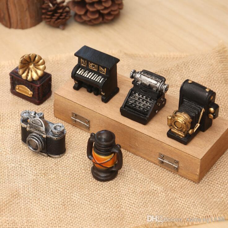 Creative MINI Retro Radio Pianos Cameras Model Antique Imitation Nostalgia Wireless Ornament Craft Bar Home Decor Gift