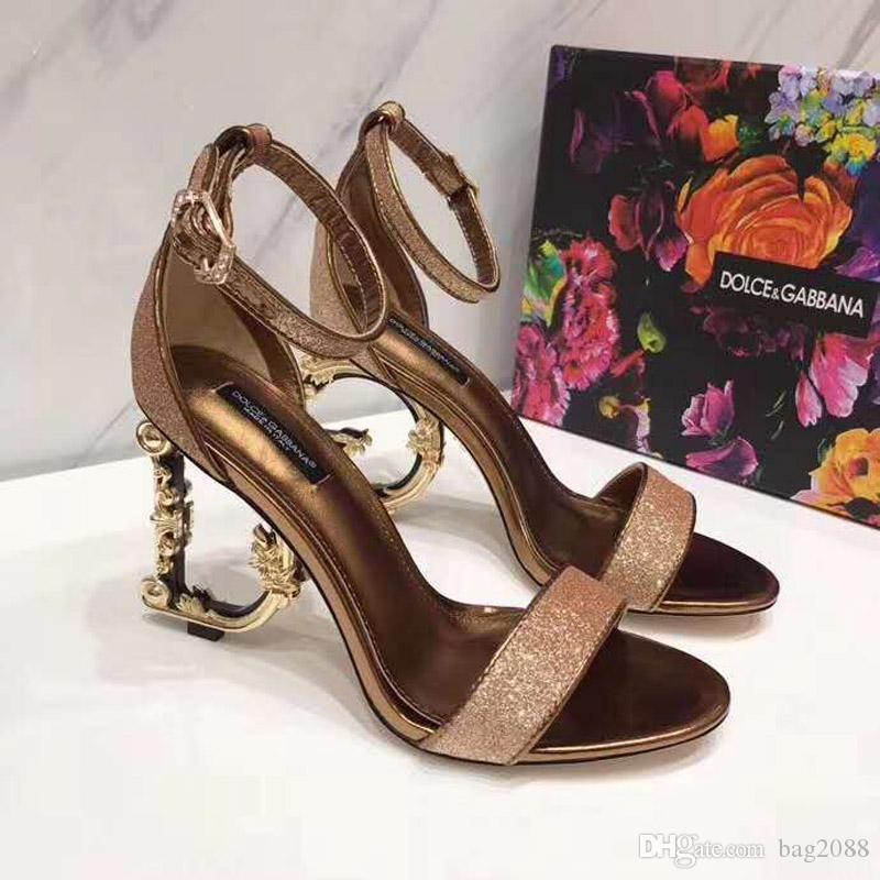 2c369464eb7 2019 new fashion luxury designer shoes Women's high-heeled sandals Women's  high heels Luxury designer high heels Height: 10.5cm size 35-42
