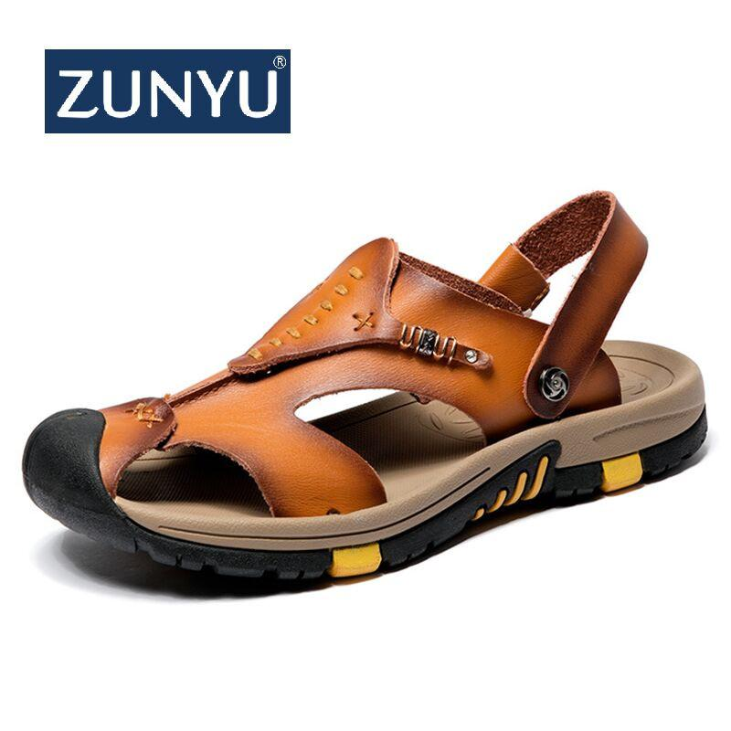 Sandales Cuir D'été En Hommes Acheter Zunyu Classique 6b7vIYgymf