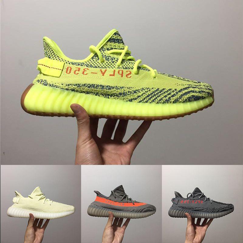 adidas yeezy 350 V2 off white boost sneakers 2019 Butter Sesam Boost Schuhe Blue Tint Blue Beluga 2.0 V2 SPLY Sneaker Designer Damen Herren