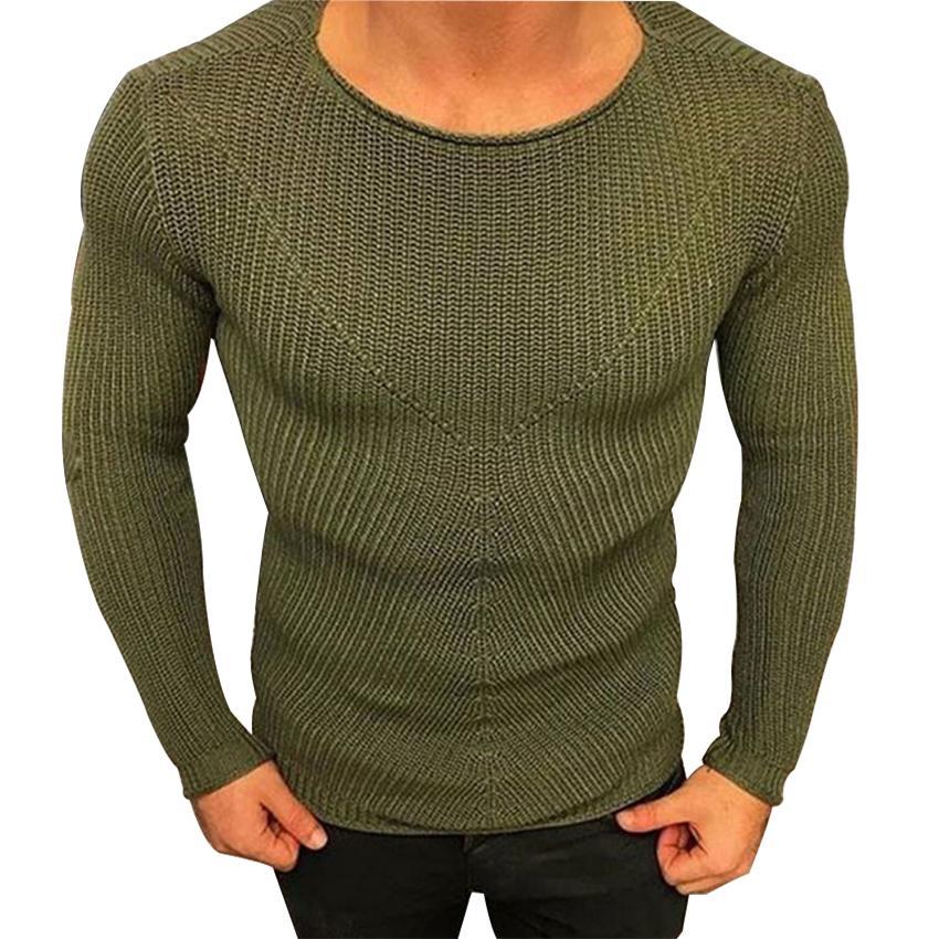 e3f4639976 Maglione Uomo Wear New Round Collar Pullover Maglione lavorato a maglia  Uomo Pullover Maglioni a righe Uomo Abbigliamento Autunno Inverno ...