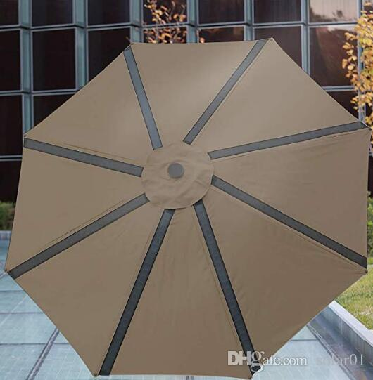 2019 9ft Solar Powered Led Light Patio Umbrella With 4 Usb Ports