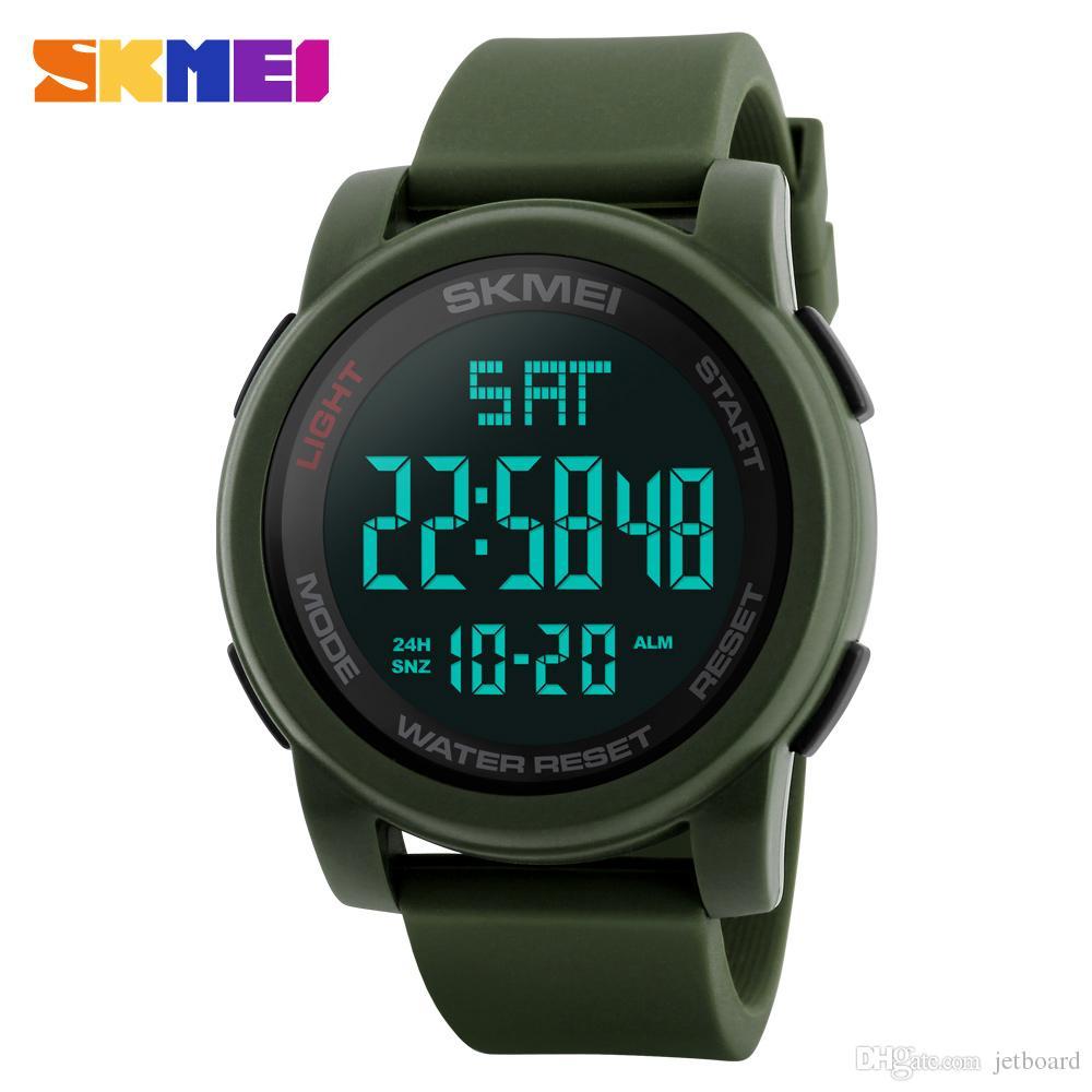 daeee270537e Compre Nuevos Relojes Para Hombres Reloj Digital LED Reloj De Pulsera Para  Hombres Reloj De Alarma Negro 50 M Relojes Deportivos A Prueba De Agua Para  ...