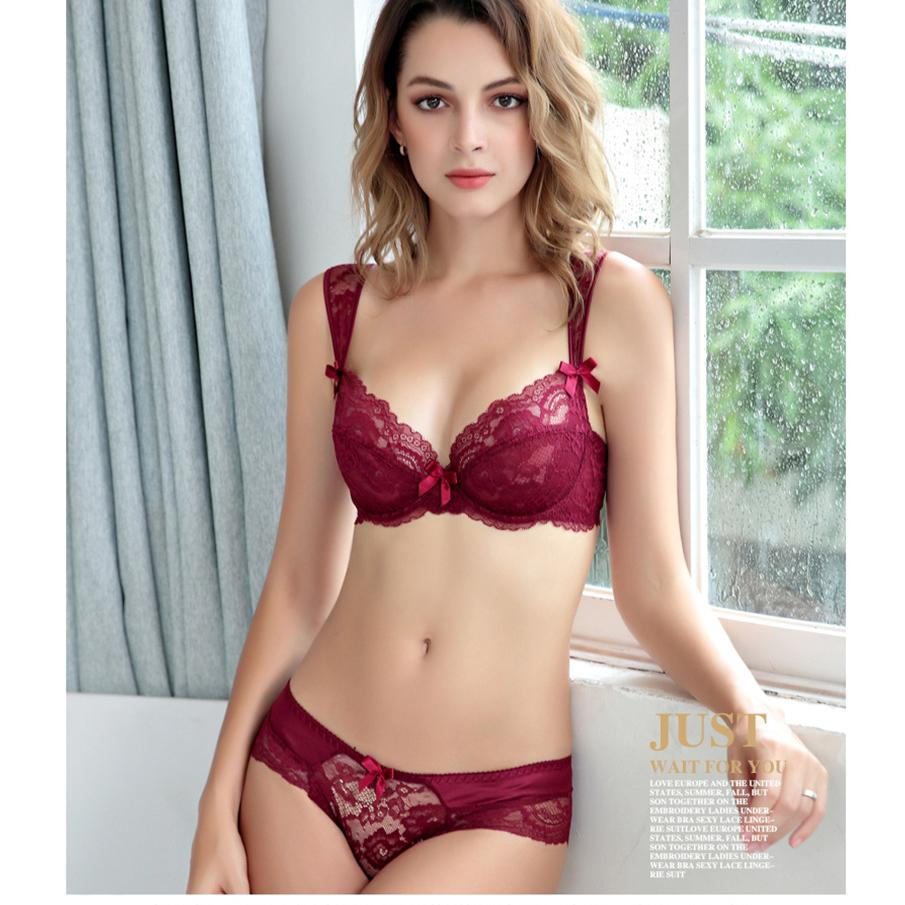 6f899e2941 2019 Bra Set Transparent Brassiere Gauze See Through Bra Underwear Sets For Women  Strap Erotic Lingerie Hollow Out From Hongxuanstore002