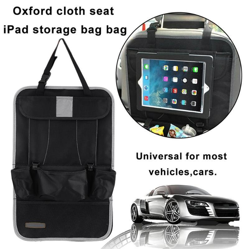 Durable Oxford Cloth Car Seat Back Organizer Multi-Pockets Storage Bag Travel Container For iPad Holder Car Accessories