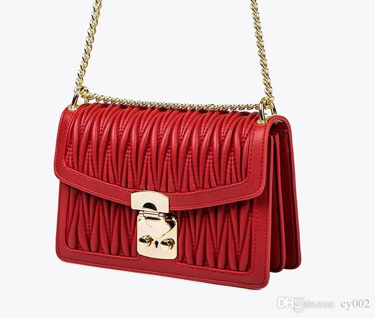 Fashion Women Genuine leather Bags Shoulder Bags Thread Embossing Design Cell Phone Purse Zig Zag messenger bag women handbag