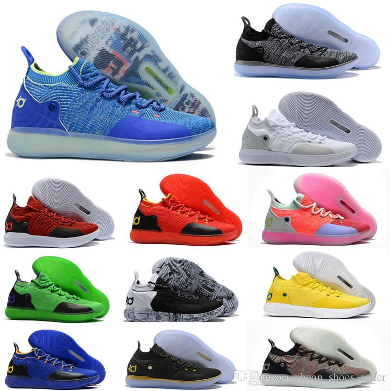 23708c3ac9be0c 2019 2019 New KD 11 EP White Orange Foam Pink Paranoid Oreo ICE Basketball  Shoes Original Kevin Durant XI KD11 Mens Trainers Sneakers Size US7 12 From  ...