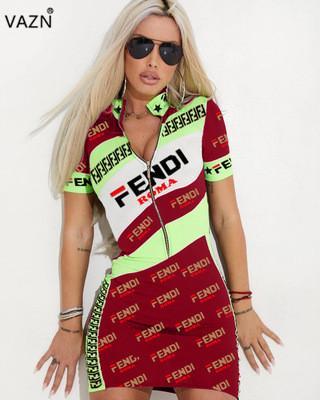 a6c638fb35c1b Satın Al VAZN 2019 Yeni Yaz Streetwear 3 Renkler Elbise Lady Seksi ...