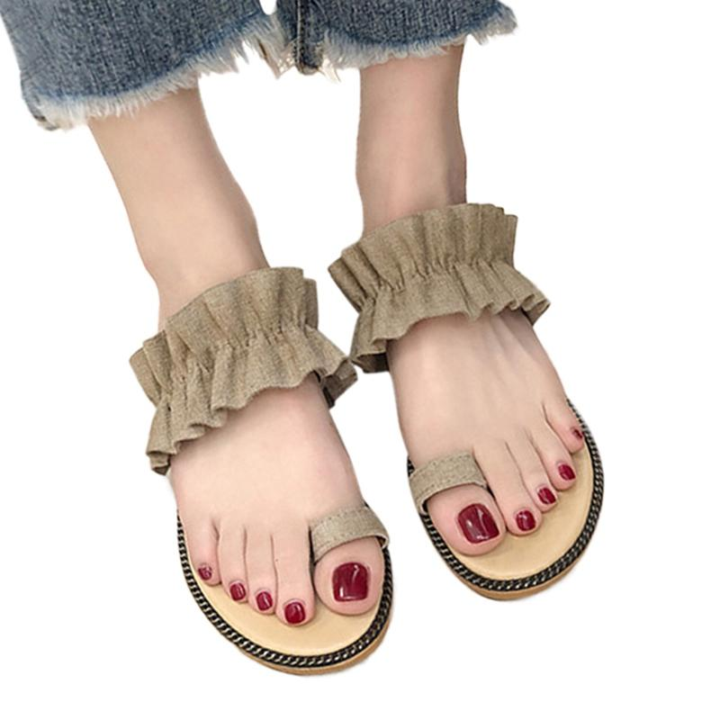 0779a1645 2019 Hot Top Girls Slippers Fashion Summer Women Beach Roman Sandals Flat Female  Slippers Flip Flops Simple Ladies Shoes Work Boots Wide Calf Boots From ...