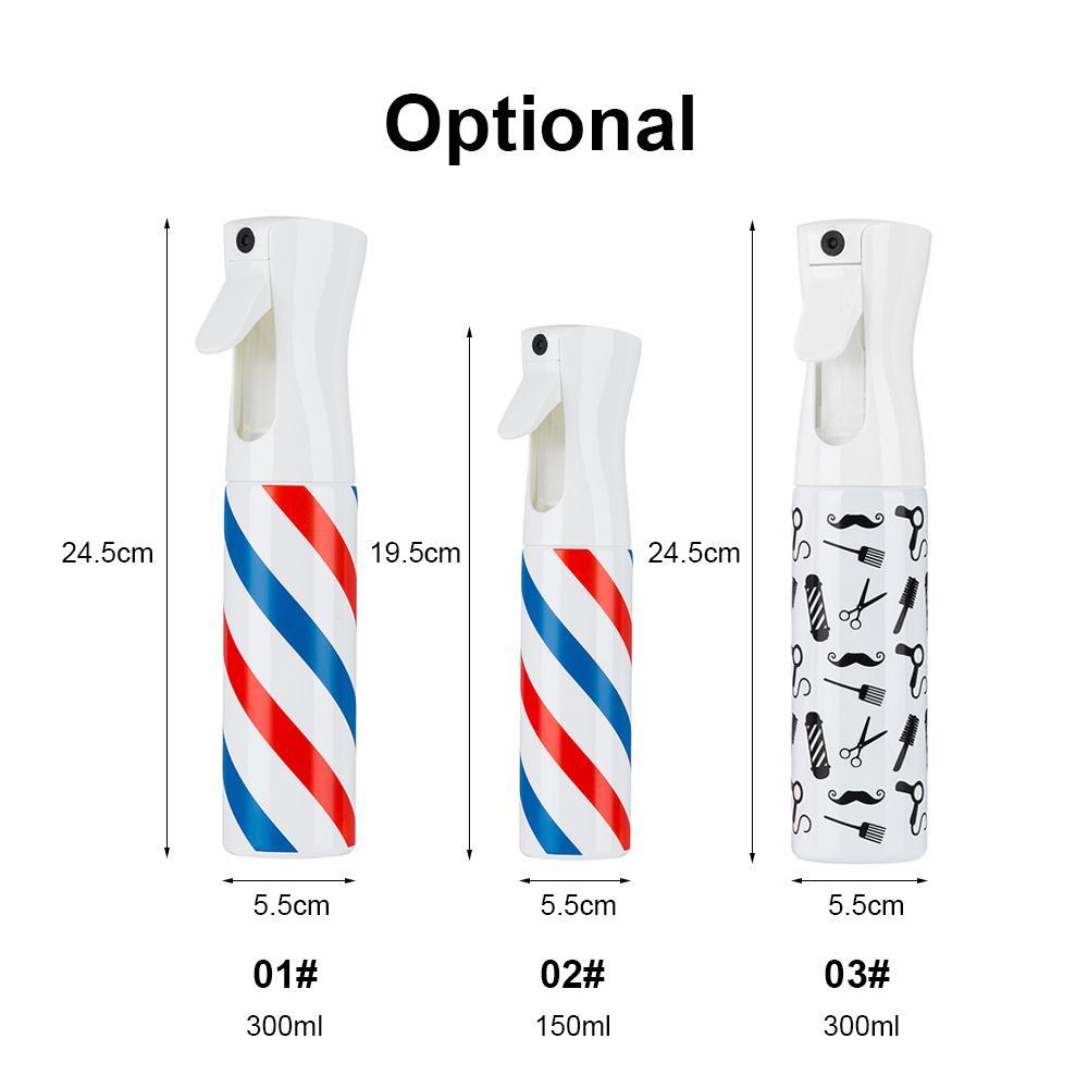 20pcs Spray bottiglia Salon Barber Hair Tools Ultra Fine Nebbia d'acqua Trigger continuo Bomboletta spray spruzzatore vuoto