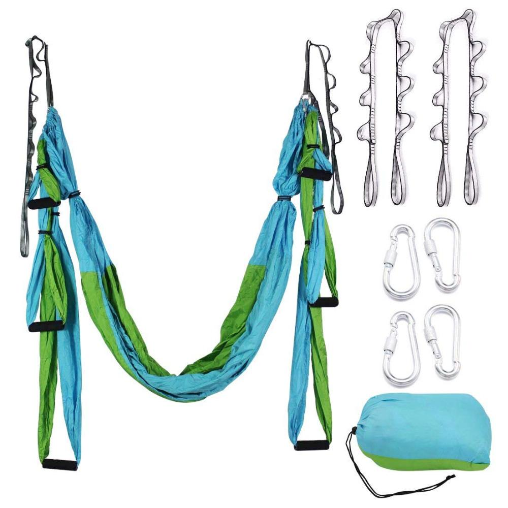 04b994d3bd Multifunction Yoga Belt Anti Gravity Aerial Yoga Hammock Set For Trapeze  Home Gym Hanging With Carry Bag And Extension Belt Busy Body Rubber Band  Exercises ...