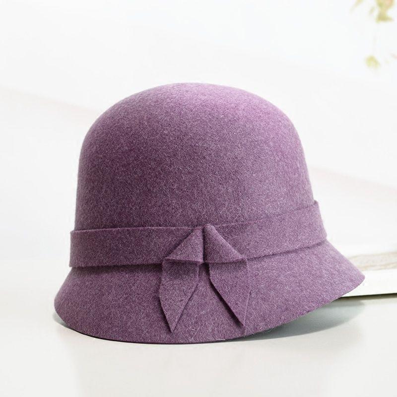 30bb0b3c7a Mum Gift Lady Winter Party Vintage Cloche Hats Women Asymmetric ...