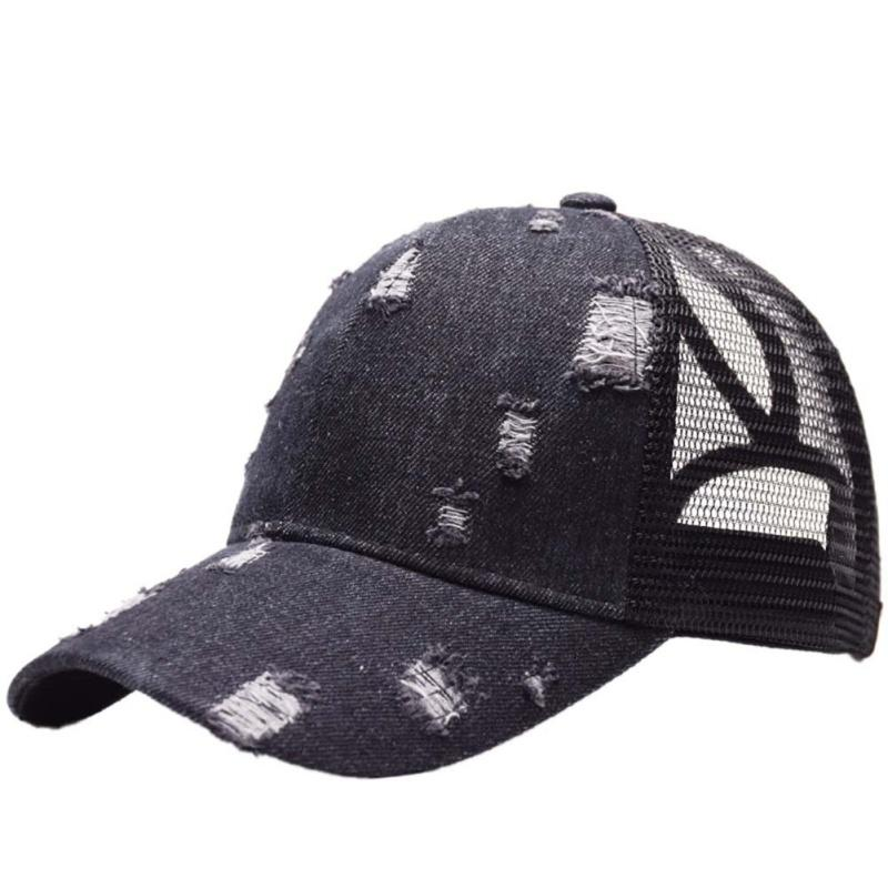 0b1171f1ee5 Unisex Adjustable Sport Caps Cowboy Holes Trucker Climbing Cap Band ...