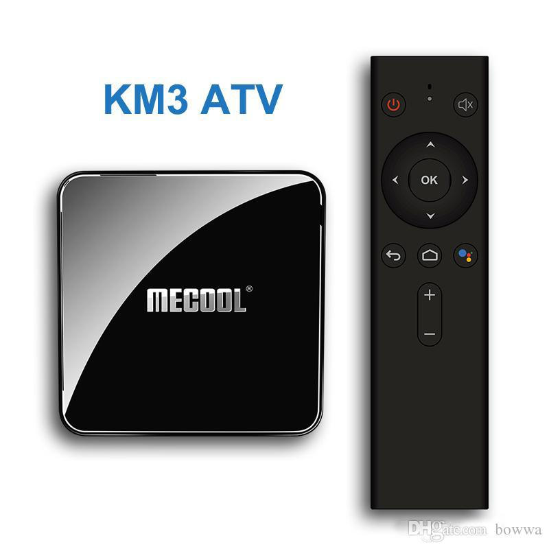 Google Certified KM3 ATV Android 9 Amlogic S905X2 Quadcore Suppot 4k 2.4G/5G WIFI Voice Control Smart Tv Box