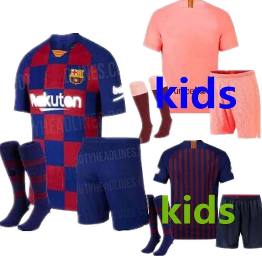 054ad2176 10 Messi Barcelona Soccer Jersey 2019 Men Women Kids Kits 8 Iniesta ...