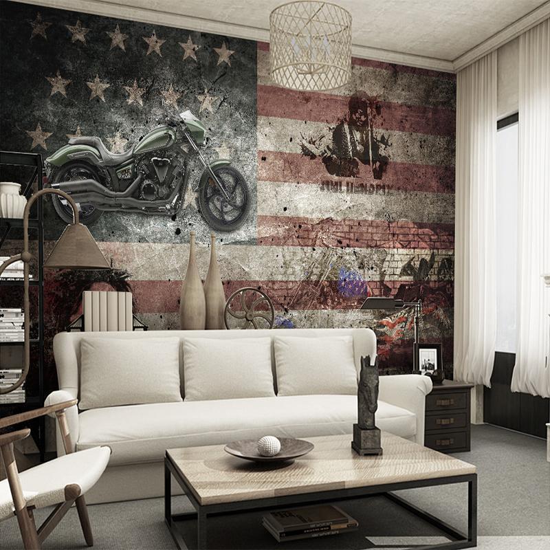 Großhandel Vintage Lokomotive Amerikanische Flagge ...