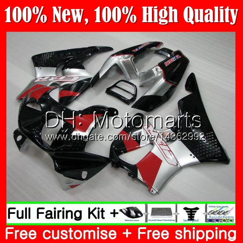 Body For HONDA Black silver CBR 893RR CBR900RR CBR893RR 89 90 91 92 93 70MT17 CBR900 CBR893 RR 1989 1990 1991 1992 1993 Fairing Bodywork